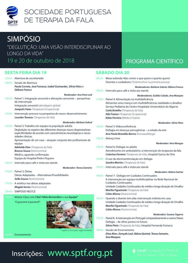 Simpósio - Deglutição: Uma Visão Interdisciplinar ao Longo da Vida - programa